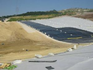 "Депо за производствени опасни отпадъци на ""Биовет"" АД, клон Разград""- горен изолационен екран и реку"